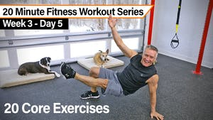 Instant Access to 20 Minute Fitness Workout Series - 20 Core Exercises by John Garey TV, powered by Intelivideo