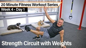 Instant Access to 20 Minute Fitness Workout Series - Strength Circuit with Weights by John Garey TV, powered by Intelivideo