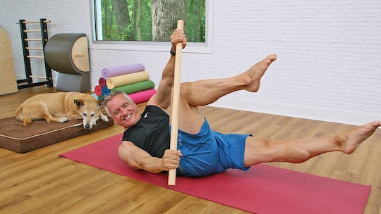 Intermediate Mat Workout with Pole 6-12-19 by John Garey TV, powered by Intelivideo