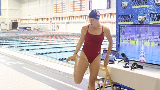 Instant Access to Dryland Stretch for Breaststroke: Laura Sogar by Fitter and Faster Swim Tour, powered by Intelivideo