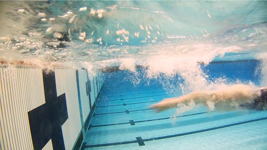 Instant Access to Glide Drill for Open Turns: Cammile Adams by Fitter and Faster Swim Tour, powered by Intelivideo