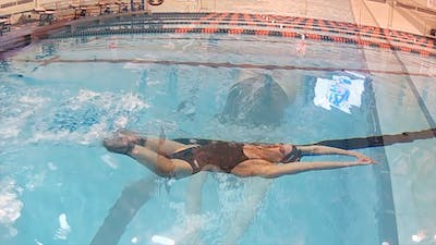 Dolphin Kick on Back: Jessica Long by Fitter and Faster Swim Tour