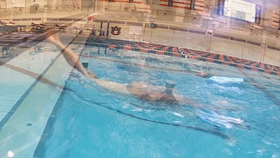 Backstroke Swim with Cup: Tyler Clary by Fitter and Faster Swim Tour