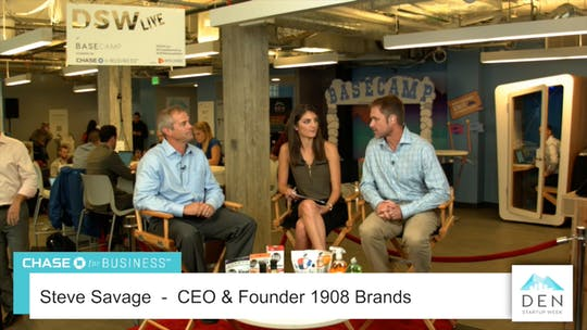 Instant Access to Steve Savage - CEO, 1908 Brands by dswlive, powered by Intelivideo
