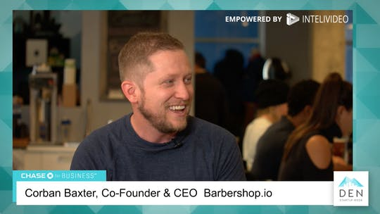 Instant Access to Corban Baxter - Co-Founder & CEO, Barbershop.io by dswlive, powered by Intelivideo