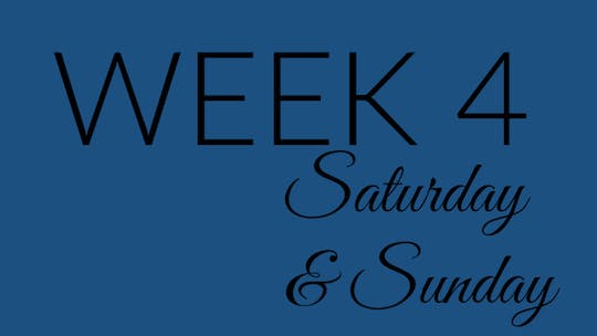 Week 4 SATURDAY/SUNDAY by L.A. Bride Body, powered by Intelivideo