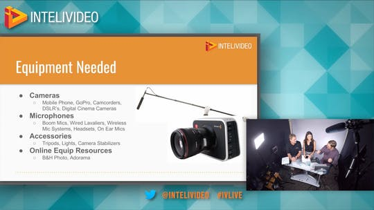 Instant Access to Episode 12: Video Equipment and Production Quality How To by Friday Live, powered by Intelivideo