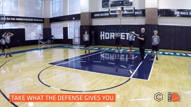 Steve Clifford - Baseline Drive to Single Pin Down by eCoachBasketball