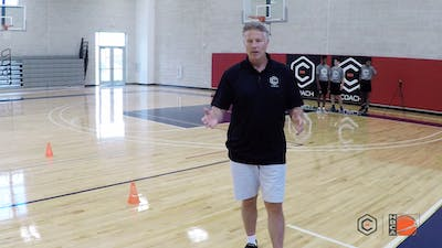 Brett Brown - One on One Around Even Cones by eCoachBasketball