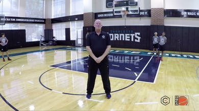 Steve Clifford - Baseline Drive to Flip & Pick by eCoachBasketball