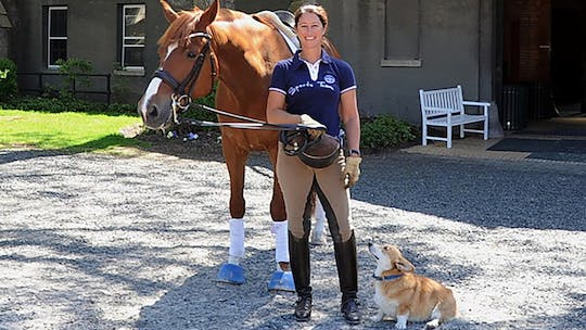 Instant Access to Training forward and straight on a young horse with Catherine Haddad by Dressage Today Online, powered by Intelivideo