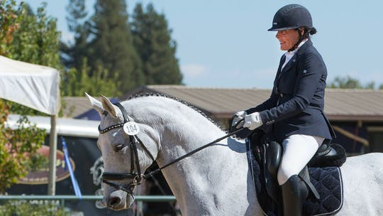 How to use your inside leg to the outside rein - Hilda Gurney by Dressage Today Online, powered by Intelivideo