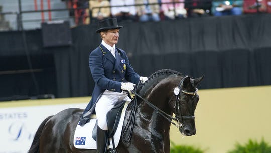 Instant Access to Improving the canter pirouette, keeping the jump in the canter with Heath Ryan by Dressage Today Online, powered by Intelivideo
