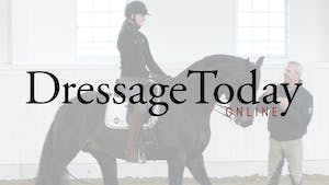 Instant Access to Hot horse, Getting the horse listening to the inside leg and shoulder fore to keep the horse straight with Bredahl Baker by Dressage Today Online, powered by Intelivideo