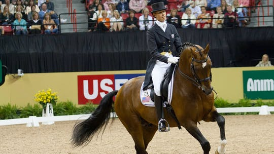 Courtney King-Dye instructs Whisper Shout Aids by Dressage Today Online, powered by Intelivideo