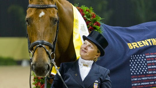 Building the Passage, keeping the horse straight, changes with Debbie McDonald by Dressage Today Online, powered by Intelivideo