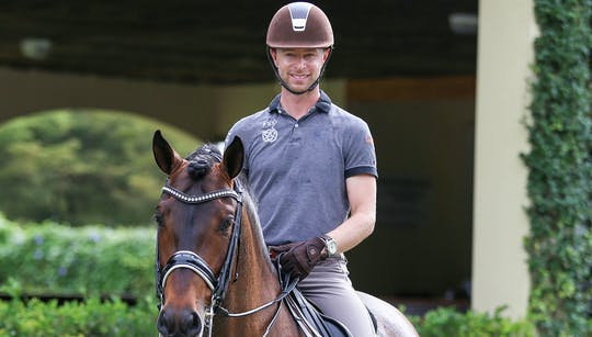 Walk Pirouettes and Easy Transitions with Nicholas Fyffe by Dressage Today Online, powered by Intelivideo