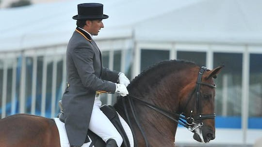 Instant Access to Daniel Dockx instructs Canter Pirouettes by Dressage Today Online, powered by Intelivideo