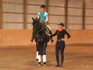 Basic warm up. Using the bend, creating relaxation and softness, asking for proper contact by Dressage Today Online