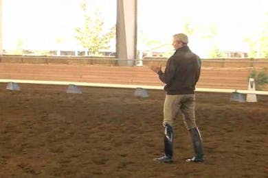 Half pass work continues. Some of the pitfalls are discussed.  by Dressage Today Online