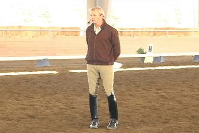 Taryn, part 1, day 2, working on straightness and technique with the young rider by Dressage Today Online