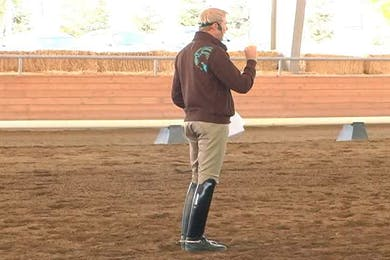 Courtney Frazer, part 3, day 2, They now move on and start looking at the piaffe and passage. by Dressage Today Online