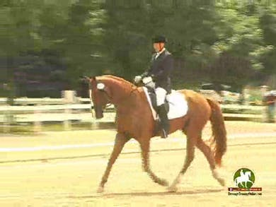Caryn Vesperman riding Rapazzini, 7.0, 7.6, 7.2, 7.2, 7.2   72.4% by Dressage Today Online