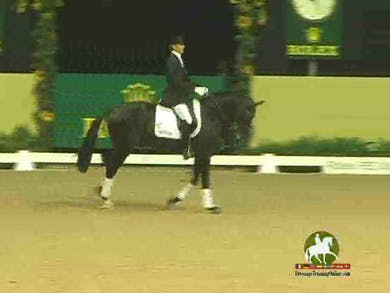 Edward Gall, 6 yr. old test cont., Willy Arts riding Valeska DG x Krack C, 7 yr. old by Dressage Today Online