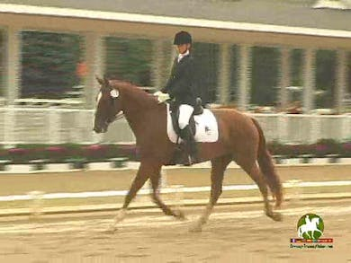 Erika-West Danque riding Ana Isabellah, 70.2% by Dressage Today Online