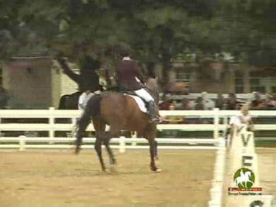 Ashley Wimmer riding Somerhall, 7.6, 7.5, 7.2, 7.0, 7.6   75.4% by Dressage Today Online