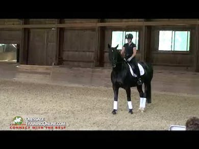 First Level-showing of leg yield and the shallow loop serpentine as required in the 1st level tests.  Second Level Opening discussion by Dressage Today Online