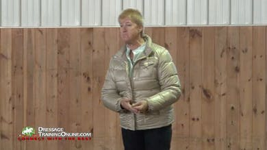 There is an excellent discussion of how to ride with contact on both reins, and how they work dynamically together.  Ms. Fore also explains uberstreichen.  There is good work showing how to create a responsive horse. by Dressage Today Online