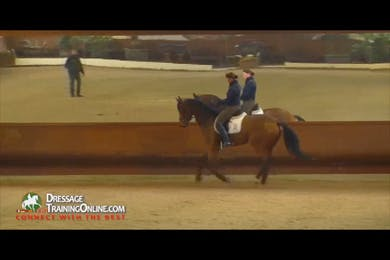 The previous canter walk transition work has prepared the horse for flying changes, and these are done on the short diagonal.  Dr. Möller finishes with a discussion of when to stop your training for the day. by Dressage Today Online