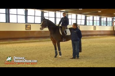 Dr. Möller talks about how each training session should concentrate on one aspect of the level they are working at while learning new movements. by Dressage Today Online
