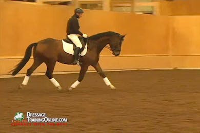 Video 1: Basic Training Of the Five Year Old- The goal is to ride this five year old on a long rein with as much suppleness as possible. by Dressage Today Online