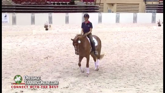 Instant Access to  She talks about her preference for a the horse to be above the bit and open rather than behind the bit.  Catherine tells a great story of the universality of communication with a horse. by Dressage Today Online, powered by Intelivideo