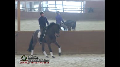 Catherine talks about what she looks for in the half pass with a six year old. by Dressage Today Online