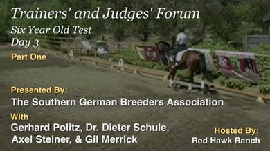 Dr. Schule asks the forum participants for their scores for the trot, and they talk about why they scored as they did. by Dressage Today Online
