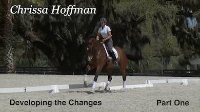 Chrissa Hoffman rides Faustus, a third level horse that she is helping with the changes. - Part 1 by Dressage Today Online