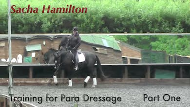 Sacha Hamilton schools Murphy, a horse her pare rider, Emma, rode before her accident which left her paralyzed from the waist down. - Part 1 by Dressage Today Online