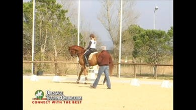 They now go to the piaffe and passage, but start by creating a controlled collected walk. - Part 2 by Dressage Today Online