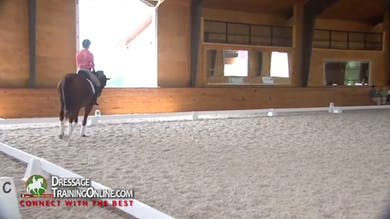 As they walk in the warm up he already requires that the rider pay attention to details - Part 1 by Dressage Today Online