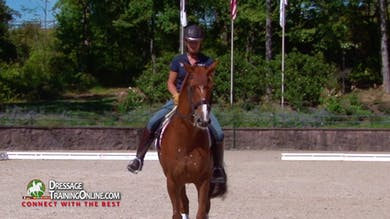 Her demonstration of riding corners offers great tips for making Grand Prix level corners. - Part 1 by Dressage Today Online