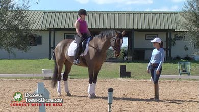 They focus on keeping him forward which gives her a place to sit. - Part 1 by Dressage Today Online