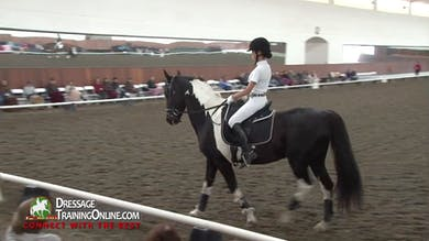 Both riders works with Janet on the turns on the haunches, and she leaves it up to Debbie to help them improve. - Part 3 by Dressage Today Online