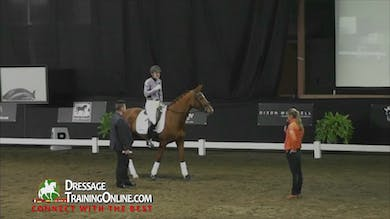 This riders goals are to improve the connection with her 5-year-old.  - Part 1 by Dressage Today Online
