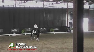 Adelinde confidently has the rider do tempi changes across the diagonal. - Part 3 by Dressage Today Online