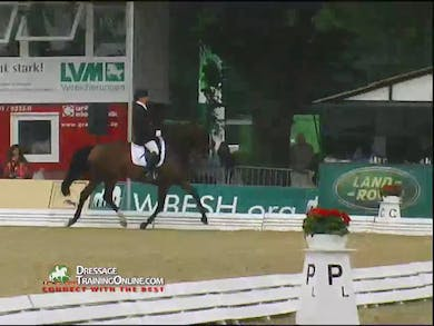 Rider one is Raz Nitzami riding Hexagons Adonie a 5 year old KWPN mare by Dressage Today Online