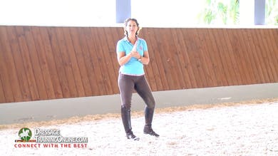 Catherine explains how having the saddle in the wrong position on the horse can force the rider to become rigid. Part 2 by Dressage Today Online