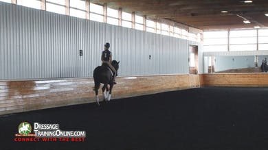 Courtney works with this pair on making the canter for the pirouettes rideable before schooling them. - Part 2 by Dressage Today Online